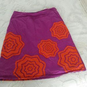 Boden purple and orange skirt